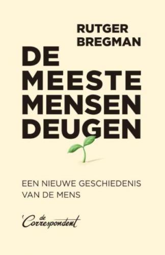 Boek: De meeste mensen deugen Rutger Bregman